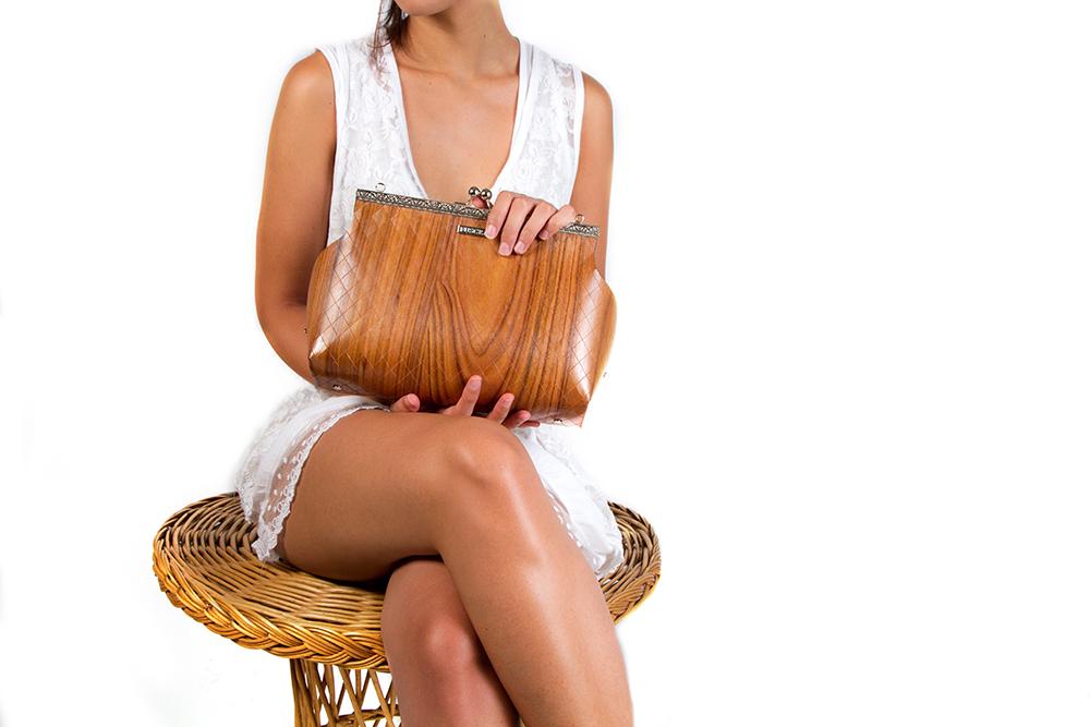 natural vegan wooden bag