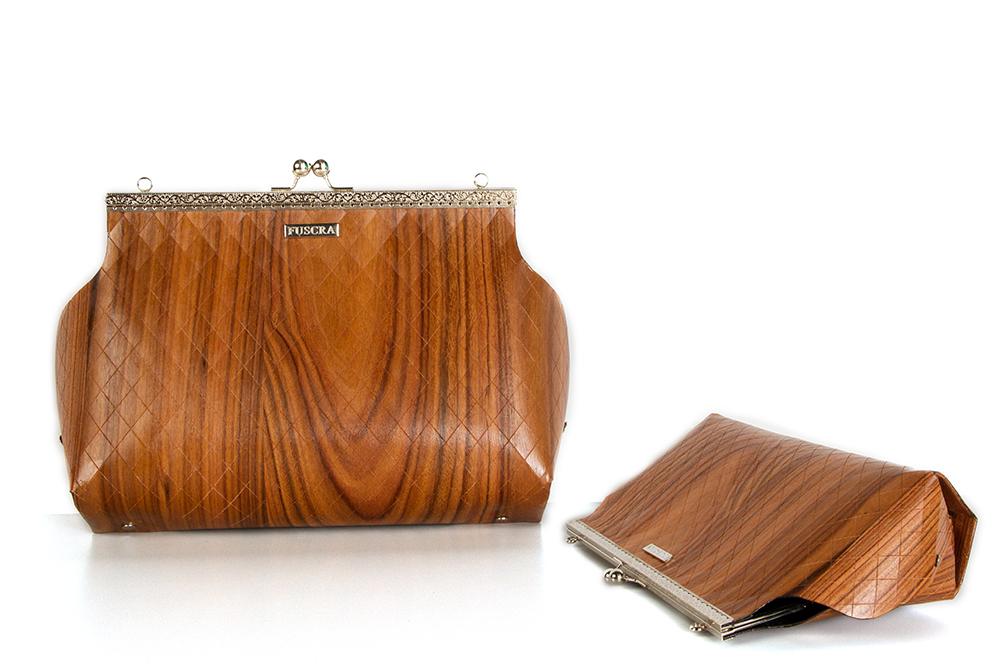 Fuscra wooden bag in rosewood