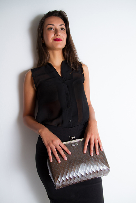 Evening silver eco bag