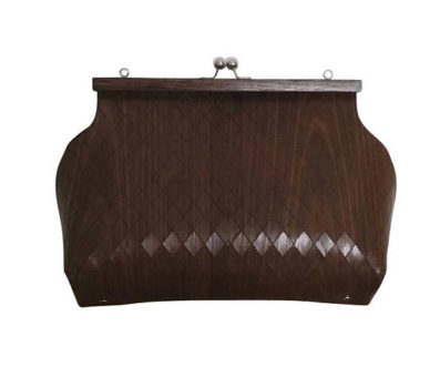 Bag in chestnut wood - Sophia Collection