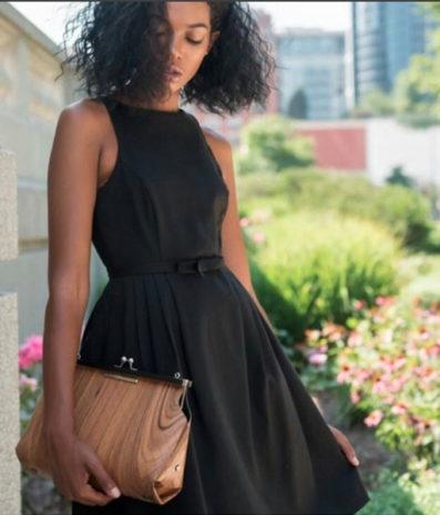 Fuscra Wooden Bag - Sophia Collection