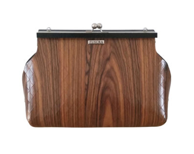 Fuscra Rosewood Clutch - Sophia Collection